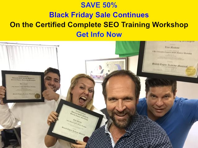 SEO Training Black Friday 50% Sale