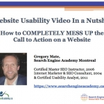 Website Usability Video - Call to Action - Slide 1