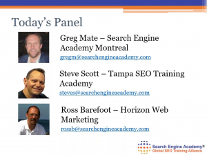 Screen Shot of SEO Expets Panel