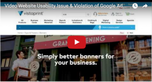 Video Usability Issue so bad it violates Google's Adwords Policy